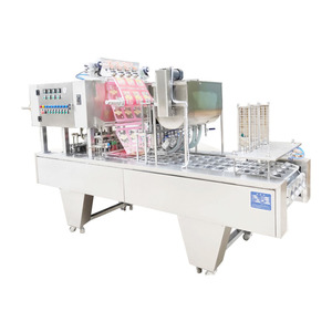 Cup bowl filling and sealing machine